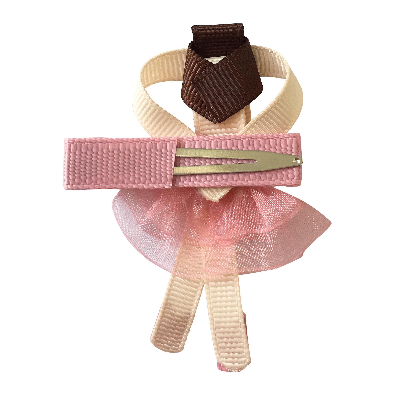 Milledeux Ballerina alligator clip Raspberry Rose