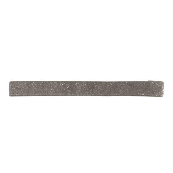 Milledeux – Elastic hairband – metal grey colored glitter