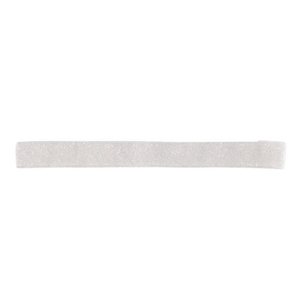 Milledeux – Elastic hairband – white colored glitter