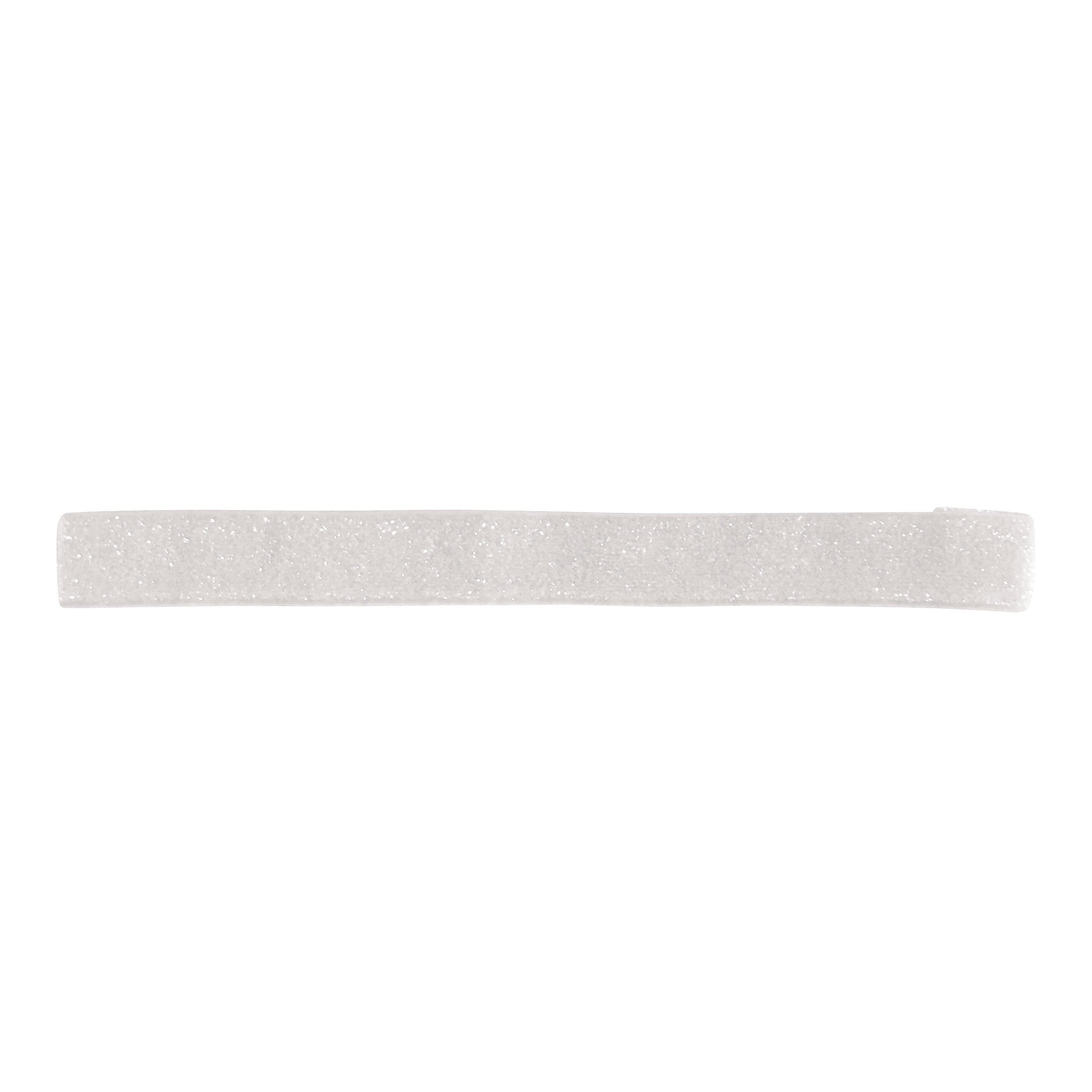 Image of Milledeux - Elastic hairband - white colored glitter