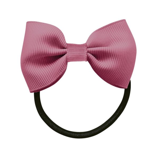 Small bowtie bow – elastic band – victorian rose