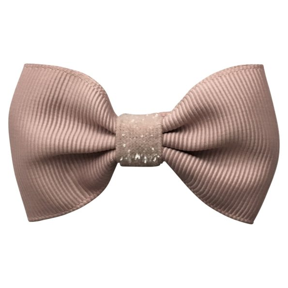Small bowtie Milledeux bow – alligator clip – carmandy colored glitter
