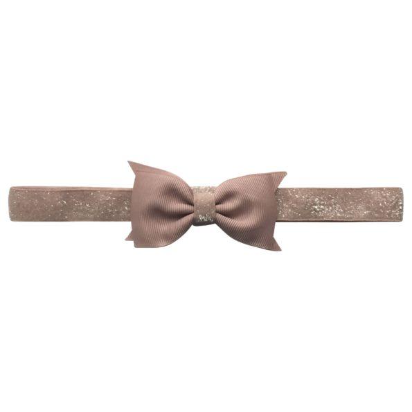Double Bowtie Milledeux bow – elastic hairband – carmandy colored glitter