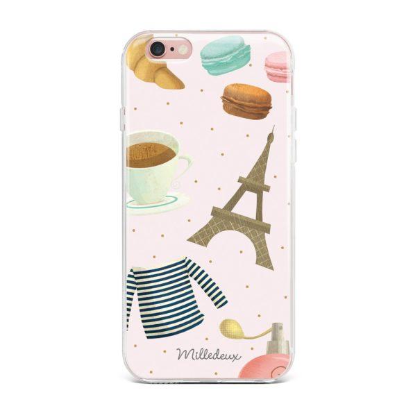 Milledeux Phone Cover – Paris Pattern – Colored
