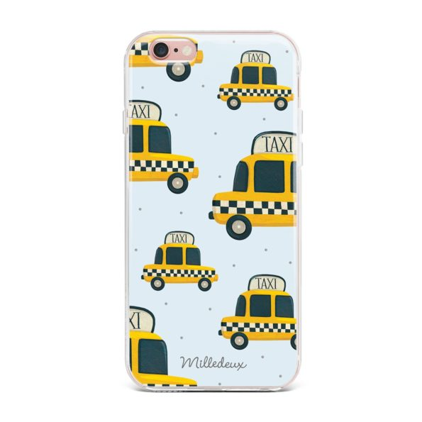 Milledeux Phone Cover – Taxi Pattern – Colored