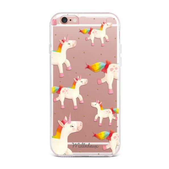 Milledeux Phone Cover – Unicorn Pattern – Clear