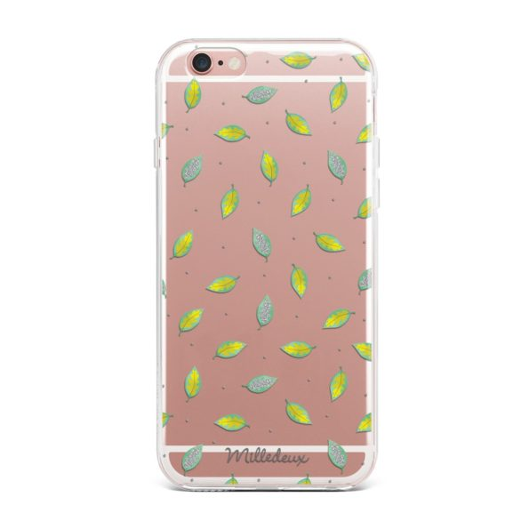 Milledeux Phone Cover – Colored Glitter Pattern – Small Clear