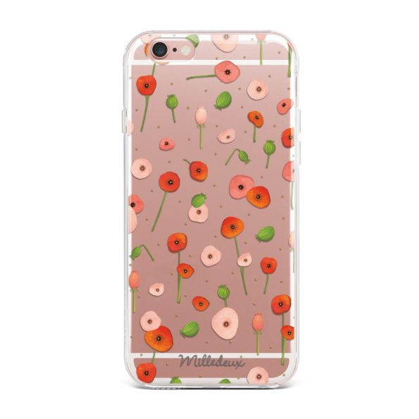 Milledeux Phone Cover – Satin Pattern – Small Clear