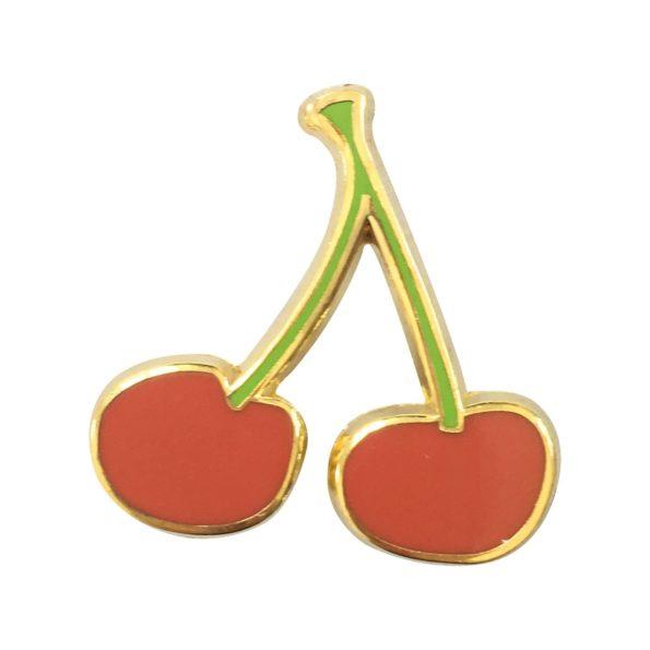 Cherry pin badge
