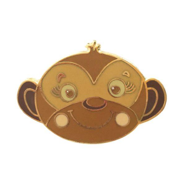 Monkey pin badge
