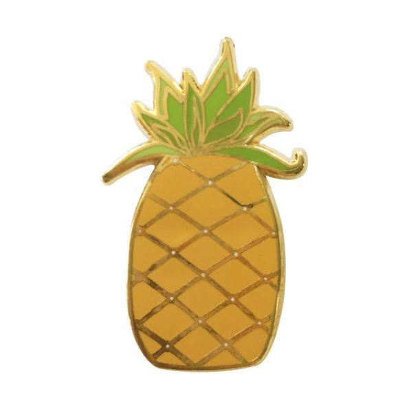 Pineapple pin badge
