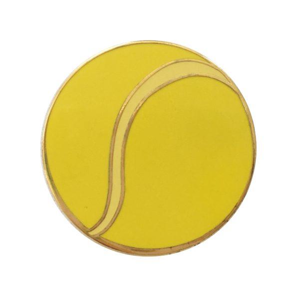 Tennis pin badge