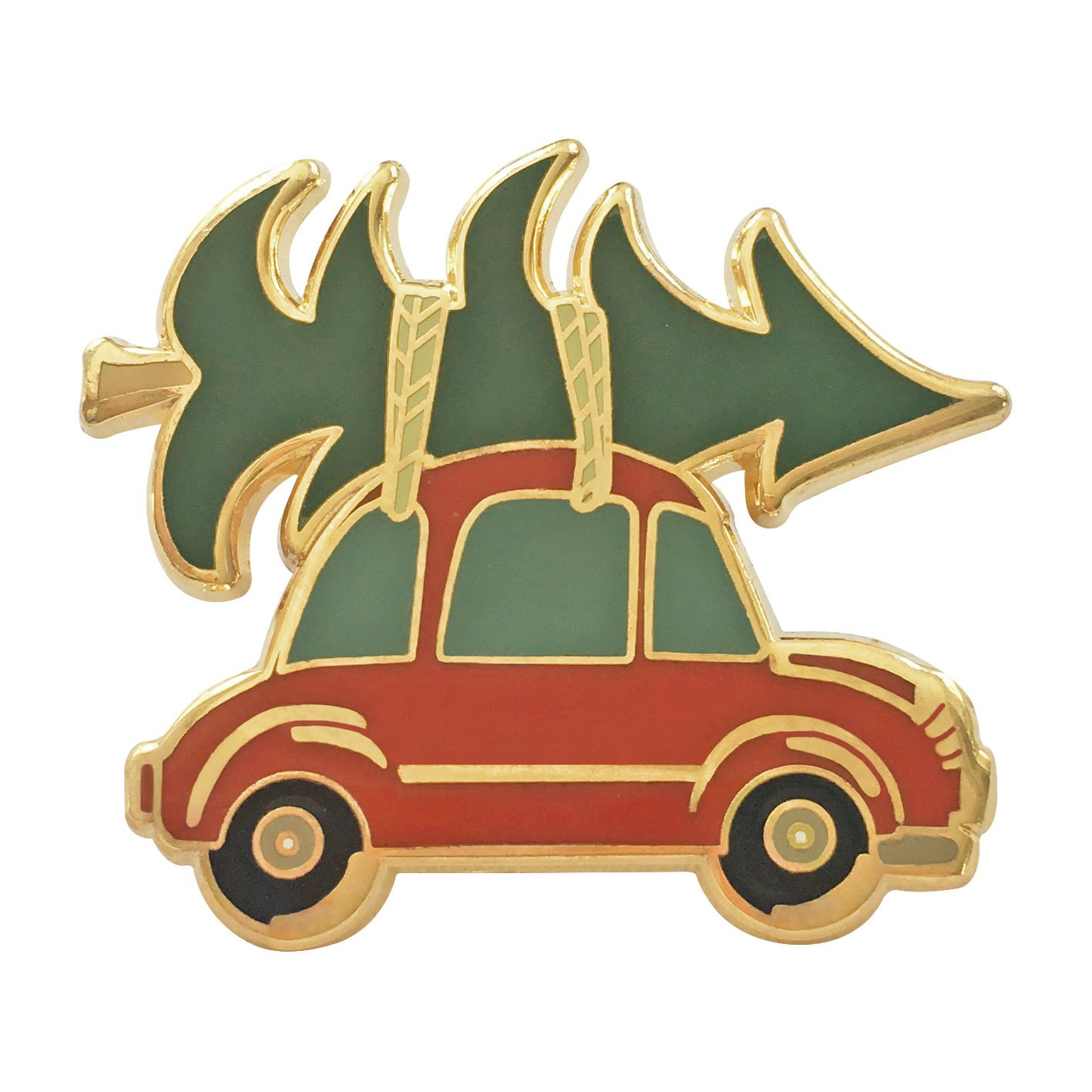 Image of   Christmas Car pin badge