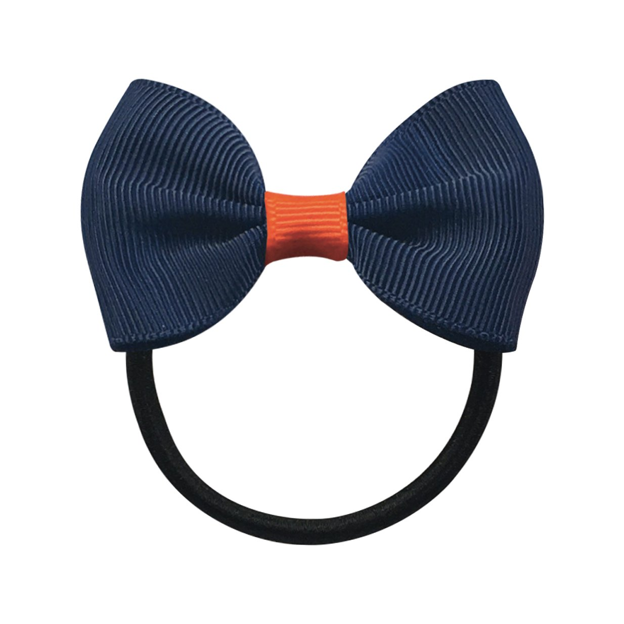 Image of   Collegiate Auburn - Small bowtie bow - elastic band - Navy/Orange
