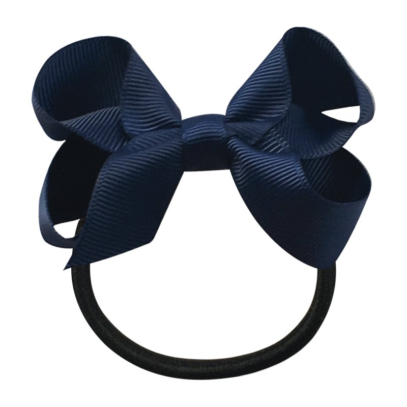 Image of   Collegiate Auburn - Medium boutique bow - elastic band - Navy