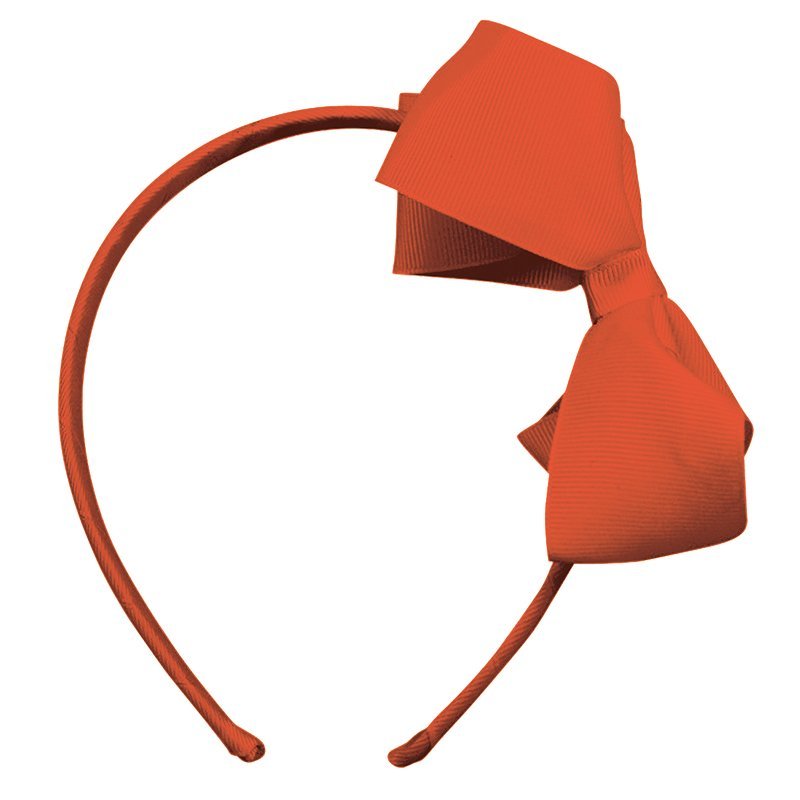 Image of   Collegiate Auburn - Large boutique bow - hairband - Orange