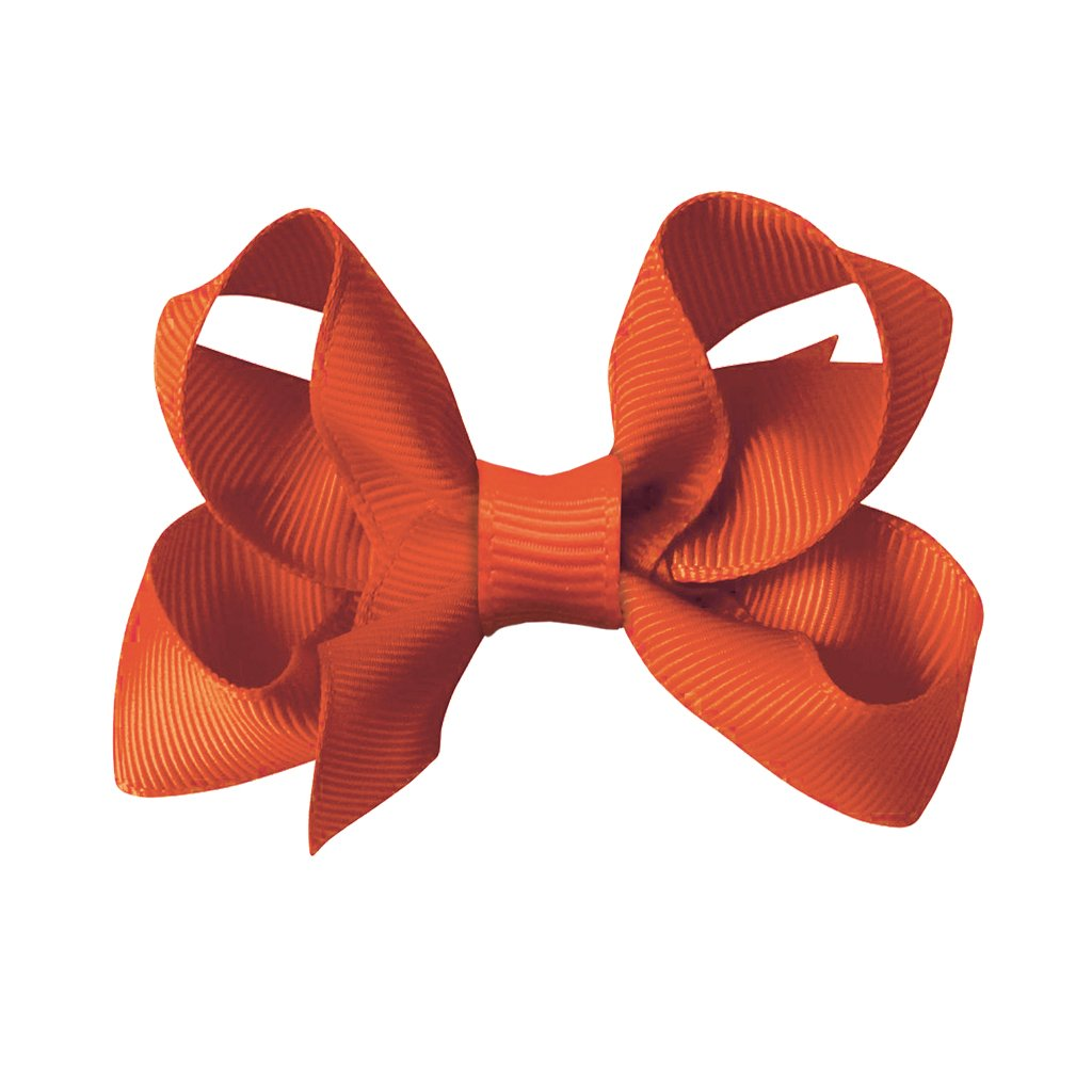 Image of   Collegiate Auburn - Medium boutique bow - alligator clip - Orange