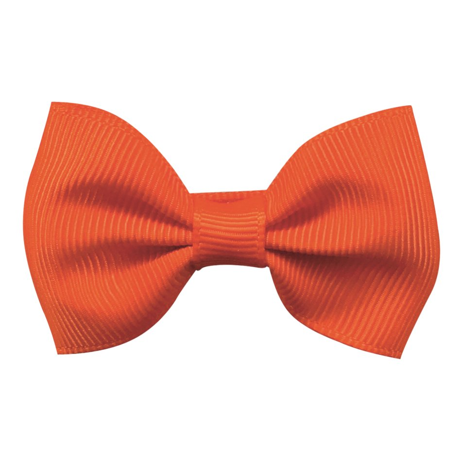 Image of   Collegiate Auburn - Small bowtie bow - alligator clip - Orange