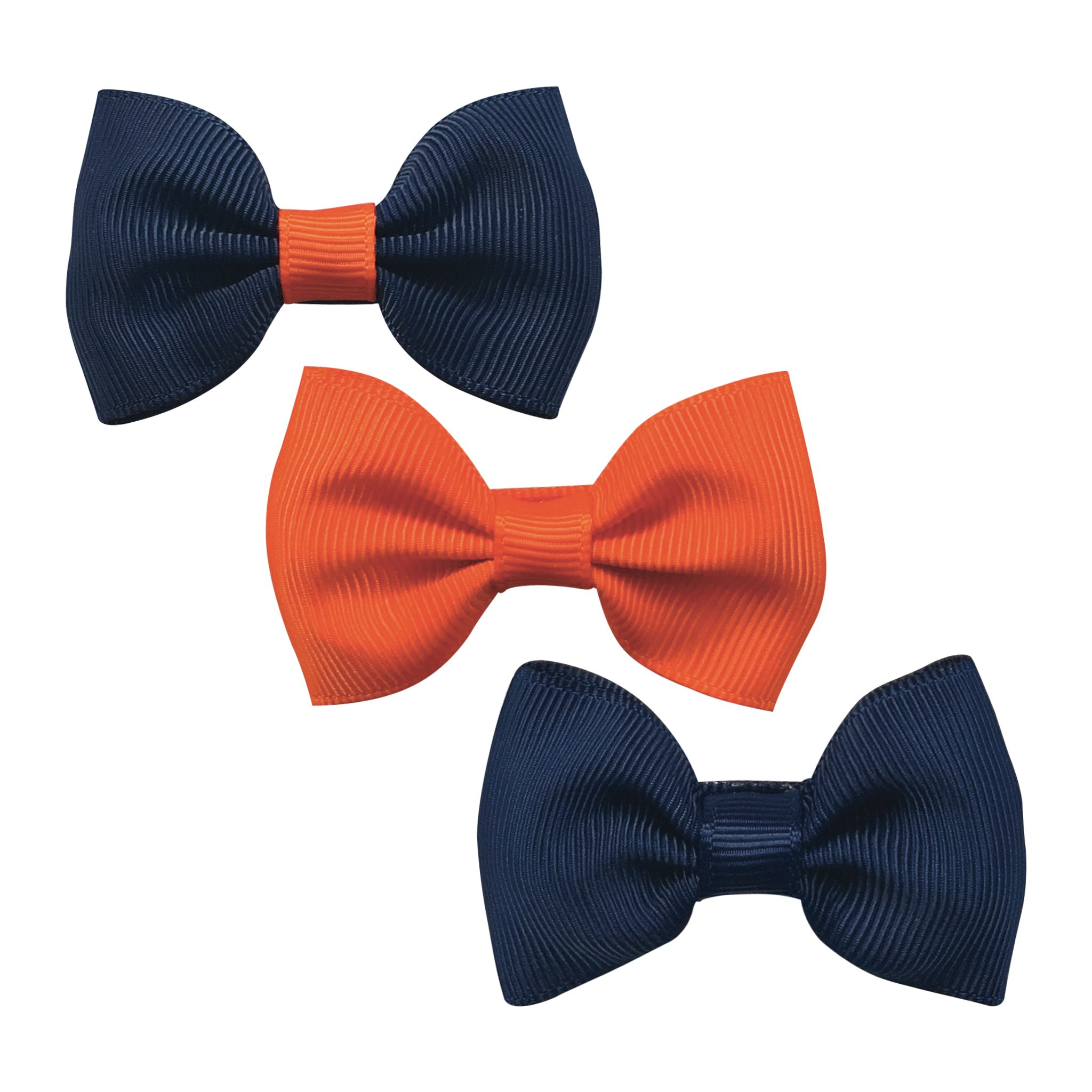 Image of   Collegiate Auburn - Small bowtie bow - alligator clip - Gift set