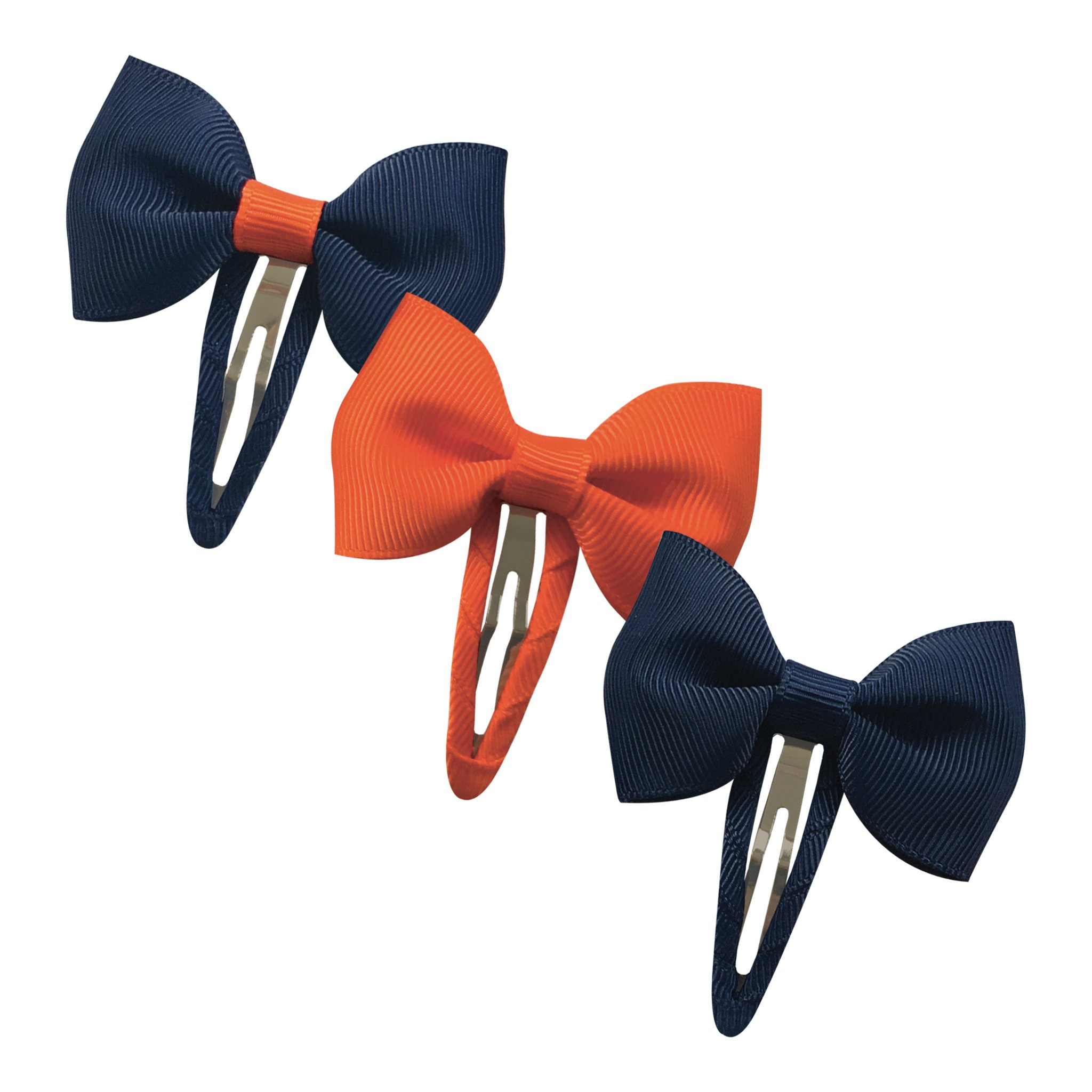 Image of   Collegiate Auburn - Small bowtie bow - snap clip - Gift set