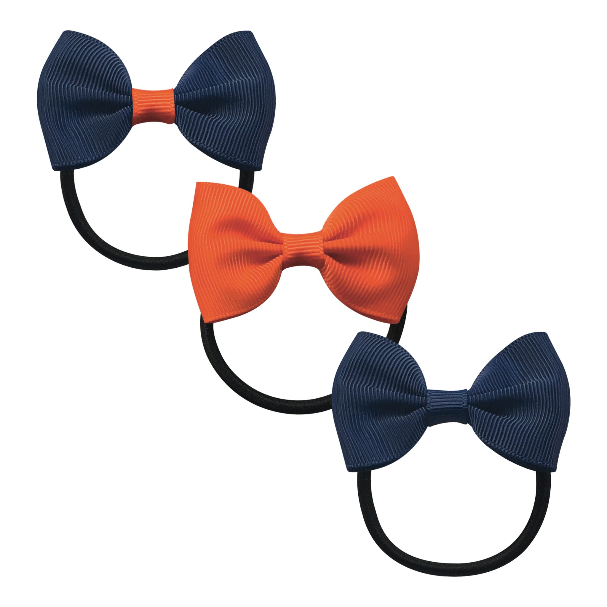 Image of   Collegiate Auburn - Small bowtie bow - elastic band - Gift set