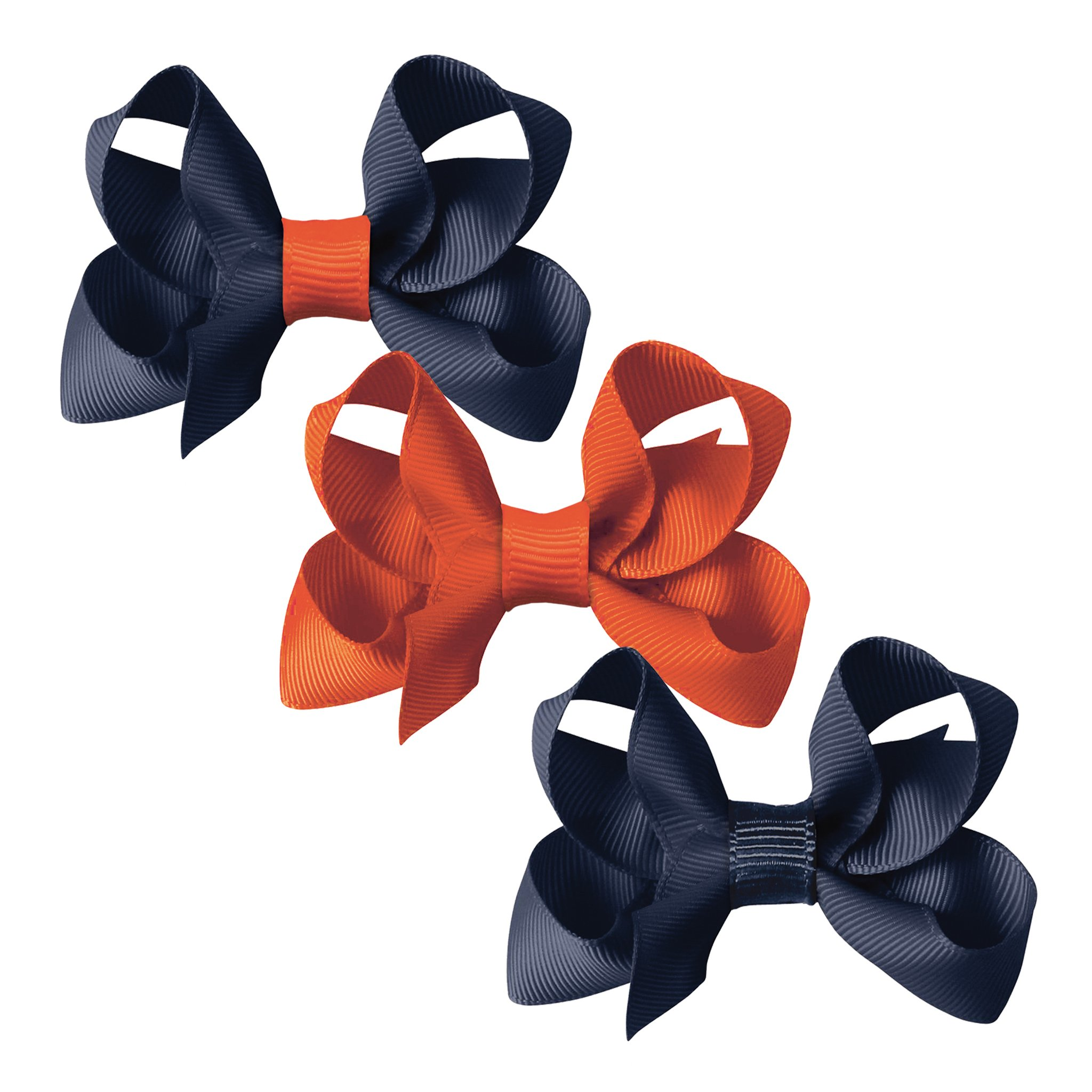 Image of   Collegiate Auburn - Medium boutique bow - alligator clip - Gift set