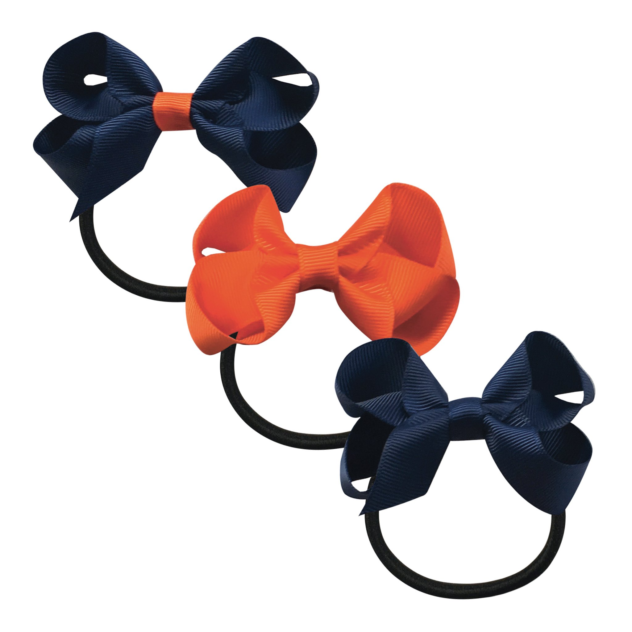 Image of   Collegiate Auburn - Medium boutique bow - elastic band - Gift set