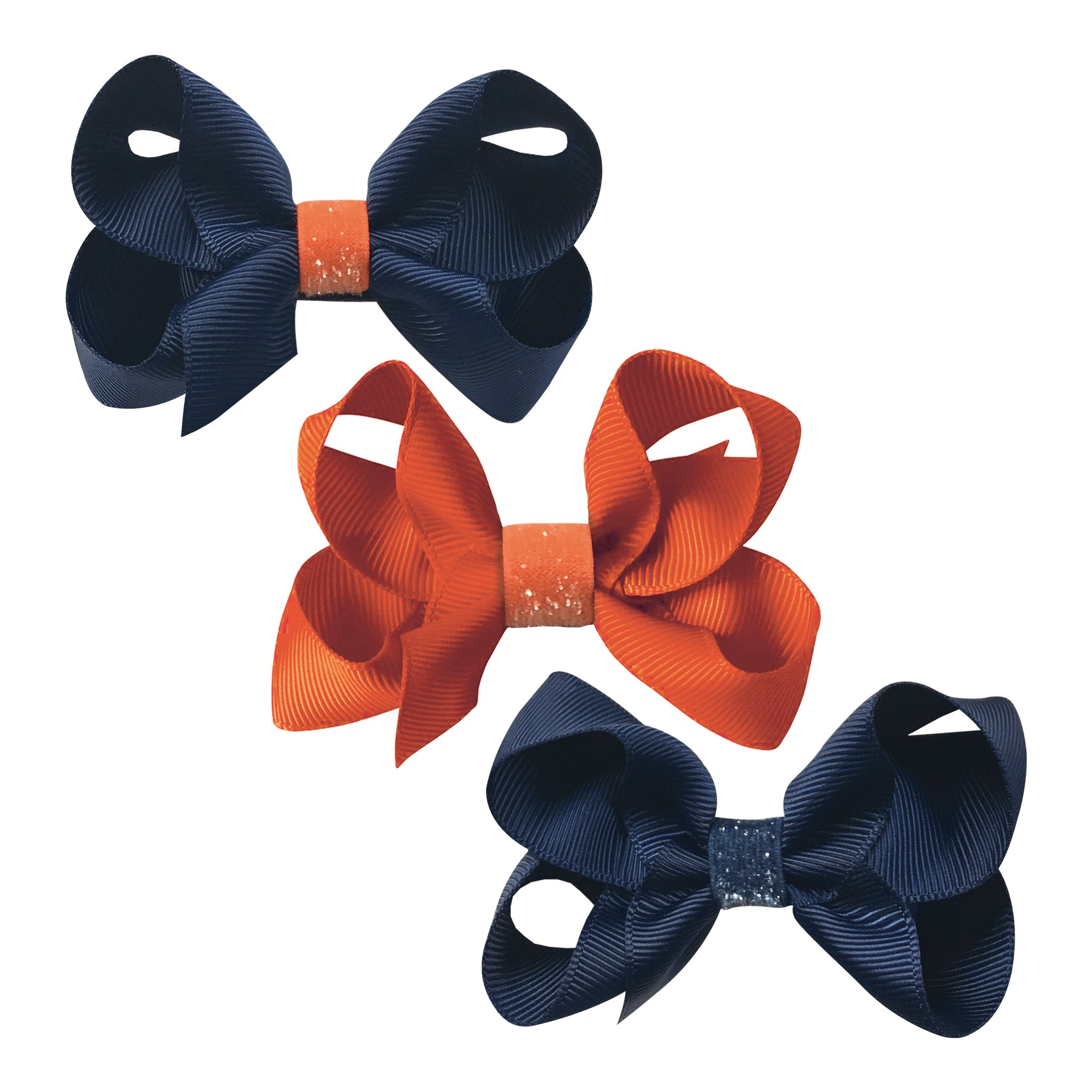 Image of   Collegiate Auburn - Medium boutique bow glitter - alligator clip - Gift set