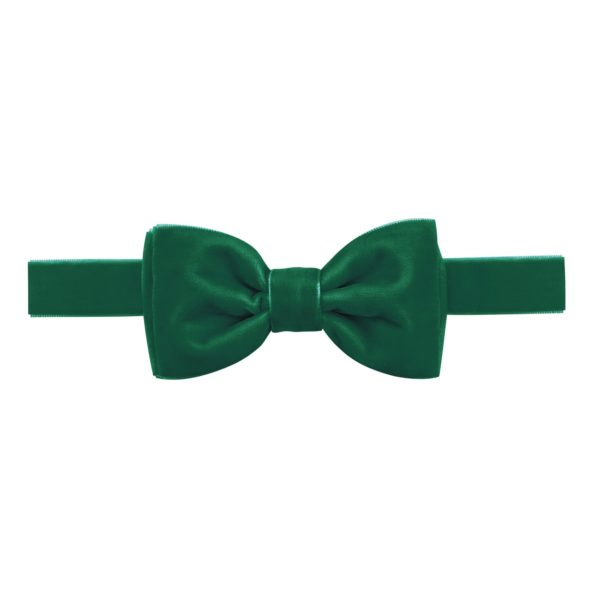 Milledeux Velvet Bow Tie – Hunter