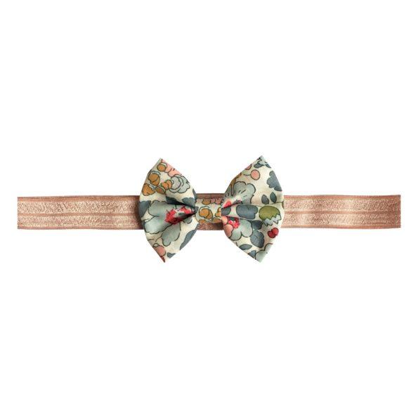 Small Bowtie Bow – elastic hairband – Liberty Betsy P