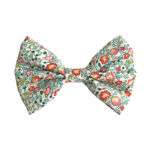 Large bowtie bow – alligator clip – Liberty Eloise B