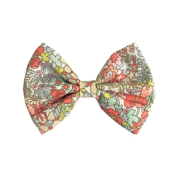 Large bowtie bow – alligator clip – Liberty Flower Tops B