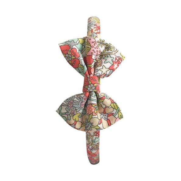 Small bowtie – hairband – Liberty Flower Tops B