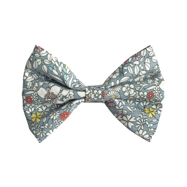 Large bowtie bow – alligator clip – Liberty Junes Meadow F