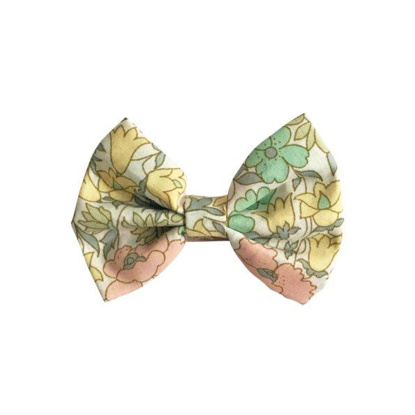 Small bowtie bow – alligator clip – Liberty Poppy & Daisy B