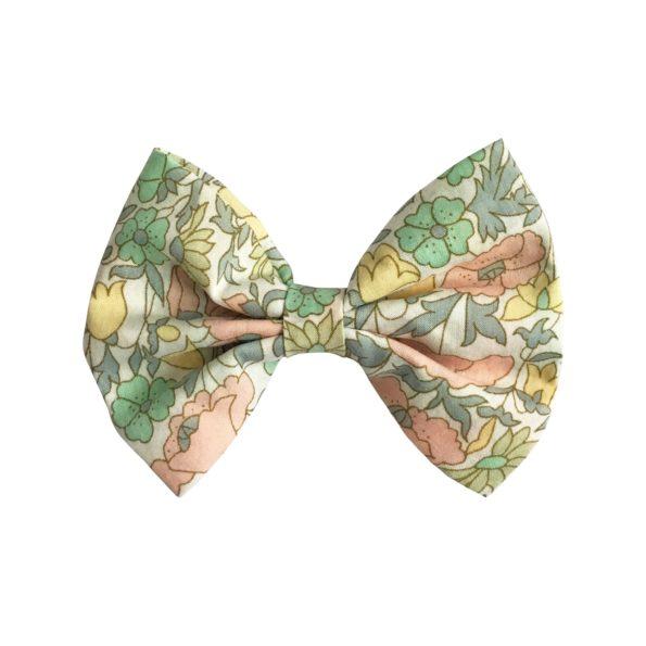 Large bowtie bow – alligator clip – Liberty Poppy & Daisy B