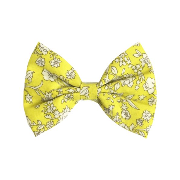 Large bowtie bow – alligator clip – Liberty Summer Blooms A