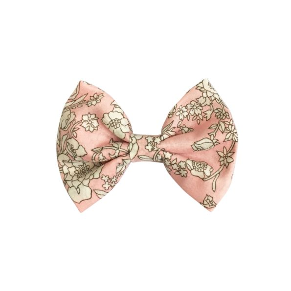 Small bowtie bow – alligator clip – Liberty Summer Blooms B