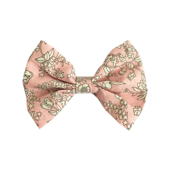 Large bowtie bow – alligator clip – Liberty Summer Blooms B