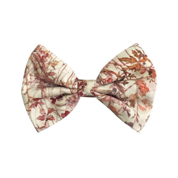 Large bowtie bow – alligator clip – Liberty Wildflowers F