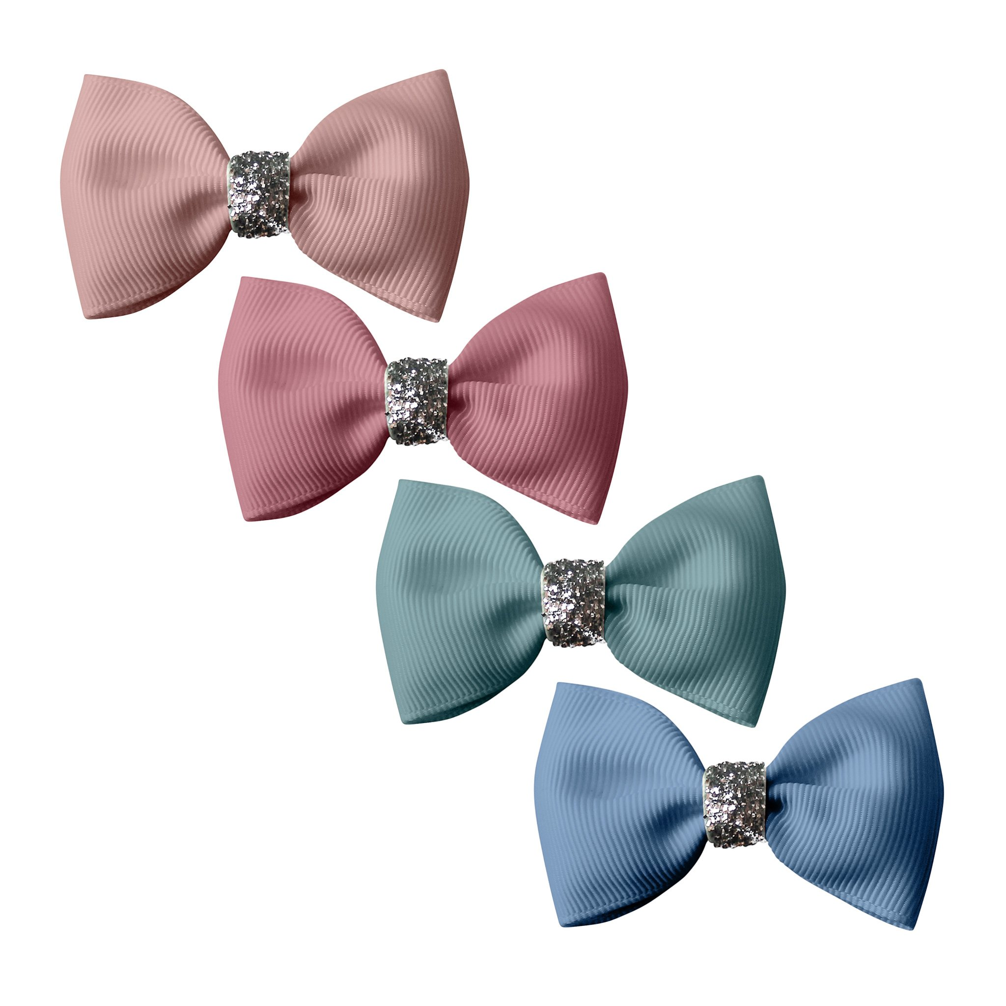 Image of Milledeux® Gift set - 4 Small bowtie bows - alligator clip - Glitter various