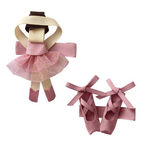 Gift set – Milledeux Ballerina and shoes – alligator clip – quartz