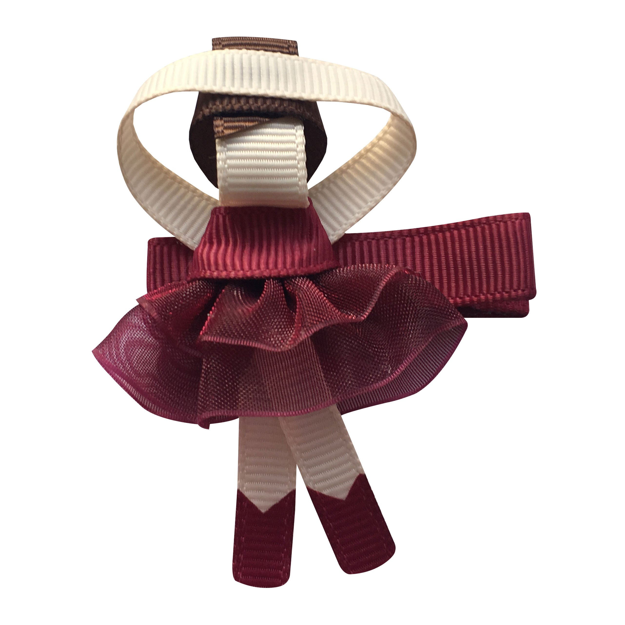 Image of Milledeux Ballerina - alligator clip - Wine