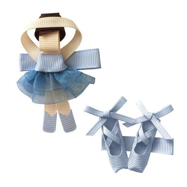 Gift set – Milledeux Ballerina and shoes – alligator clip – bluebell