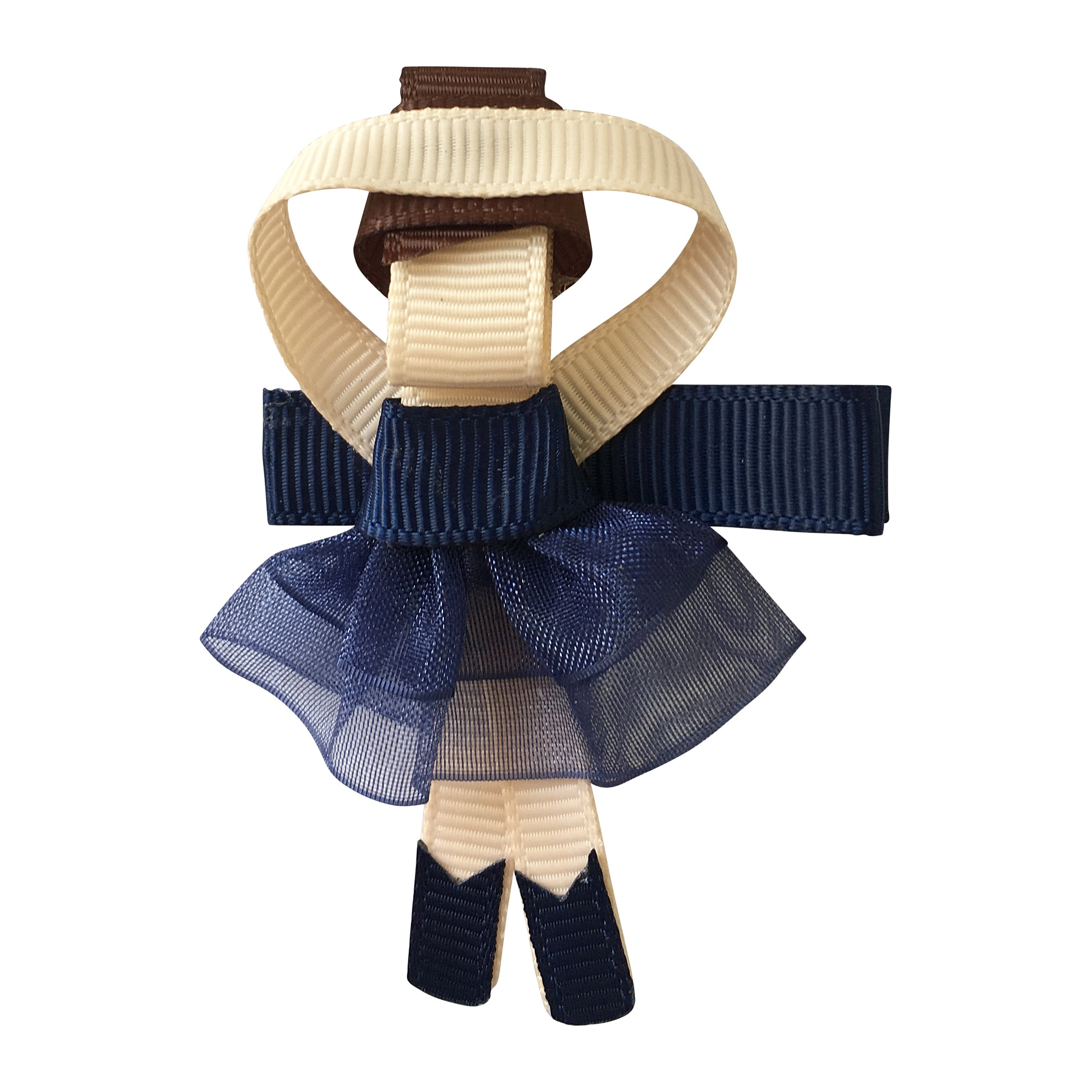 Image of Milledeux Ballerina - alligator clip - Navy