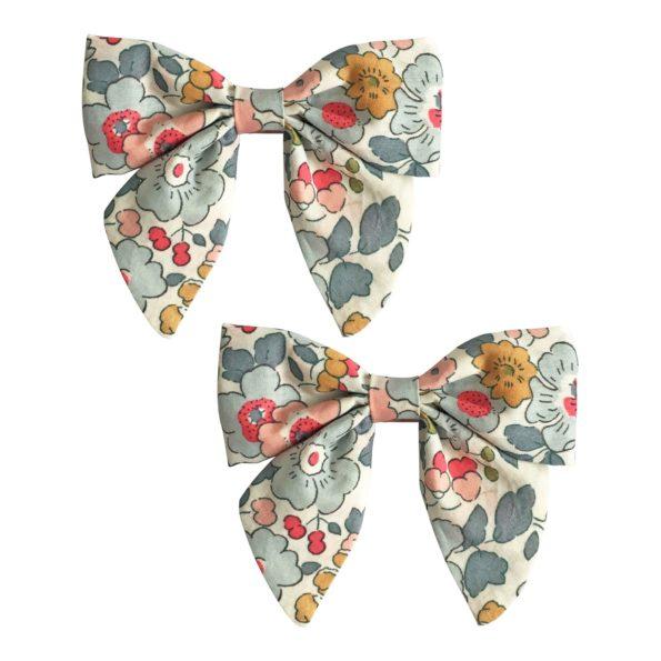 Milledeux Gift set – 2 Liberty bowtie bows – alligator clip – Betsy P