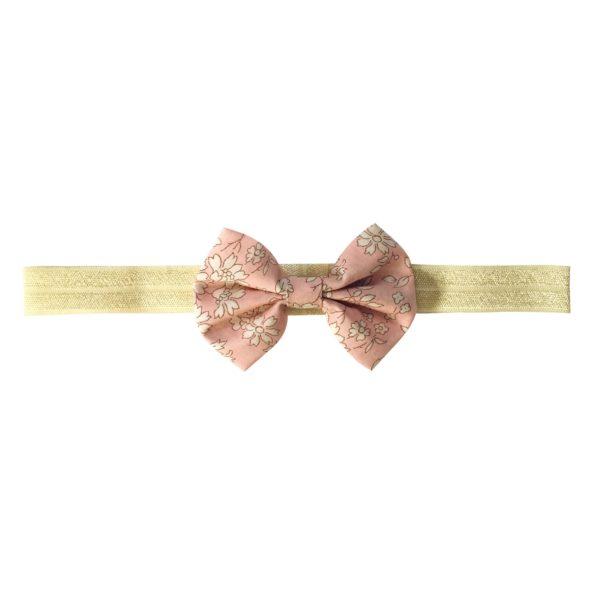 Small Bowtie Bow – elastic hairband – Liberty Capel S