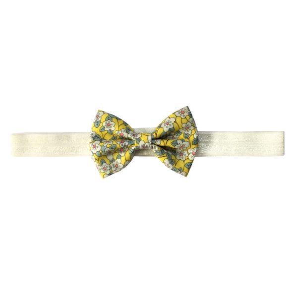 Small Bowtie Bow – elastic hairband – Liberty Ffion B