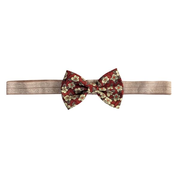 Small Bowtie Bow – elastic hairband – Liberty Ffion C