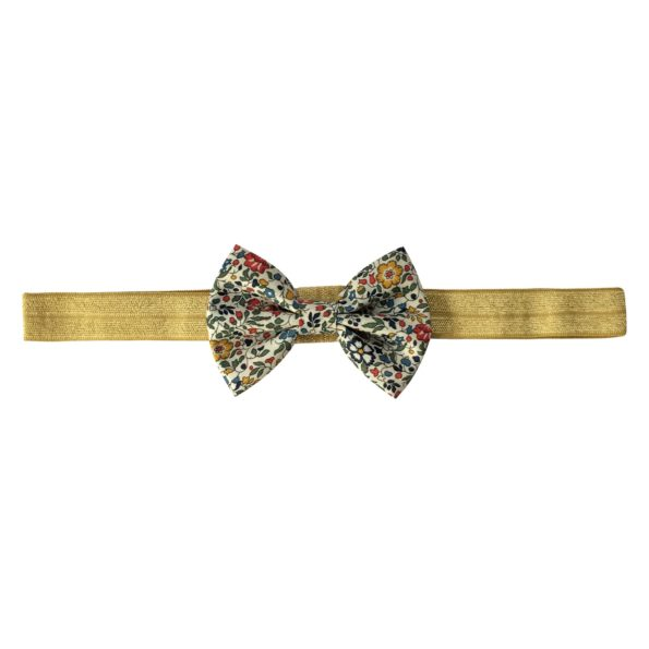 Small Bowtie Bow – elastic hairband – Liberty Katie & Millie A